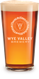 Glass of Wye Valley Bitter