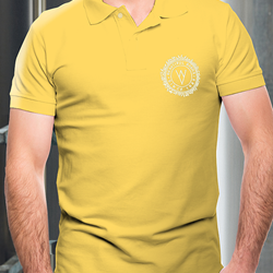 Image of WYE VALLEY BREWERY POLO SHIRT (MUSTARD)