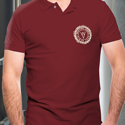 Image of WYE VALLEY BREWERY POLO SHIRT (BURGUNDY)