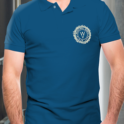 Image of WYE VALLEY BREWERY POLO SHIRT (BLUE)