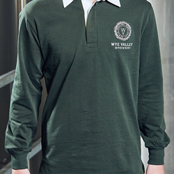 Image of WYE VALLEY BREWERY RUGBY SHIRT (GREEN)