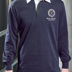 Image of WYE VALLEY BREWERY RUGBY SHIRT (BLUE)