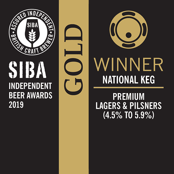 SIBA Independent Beer Awards Gold WInner 2019