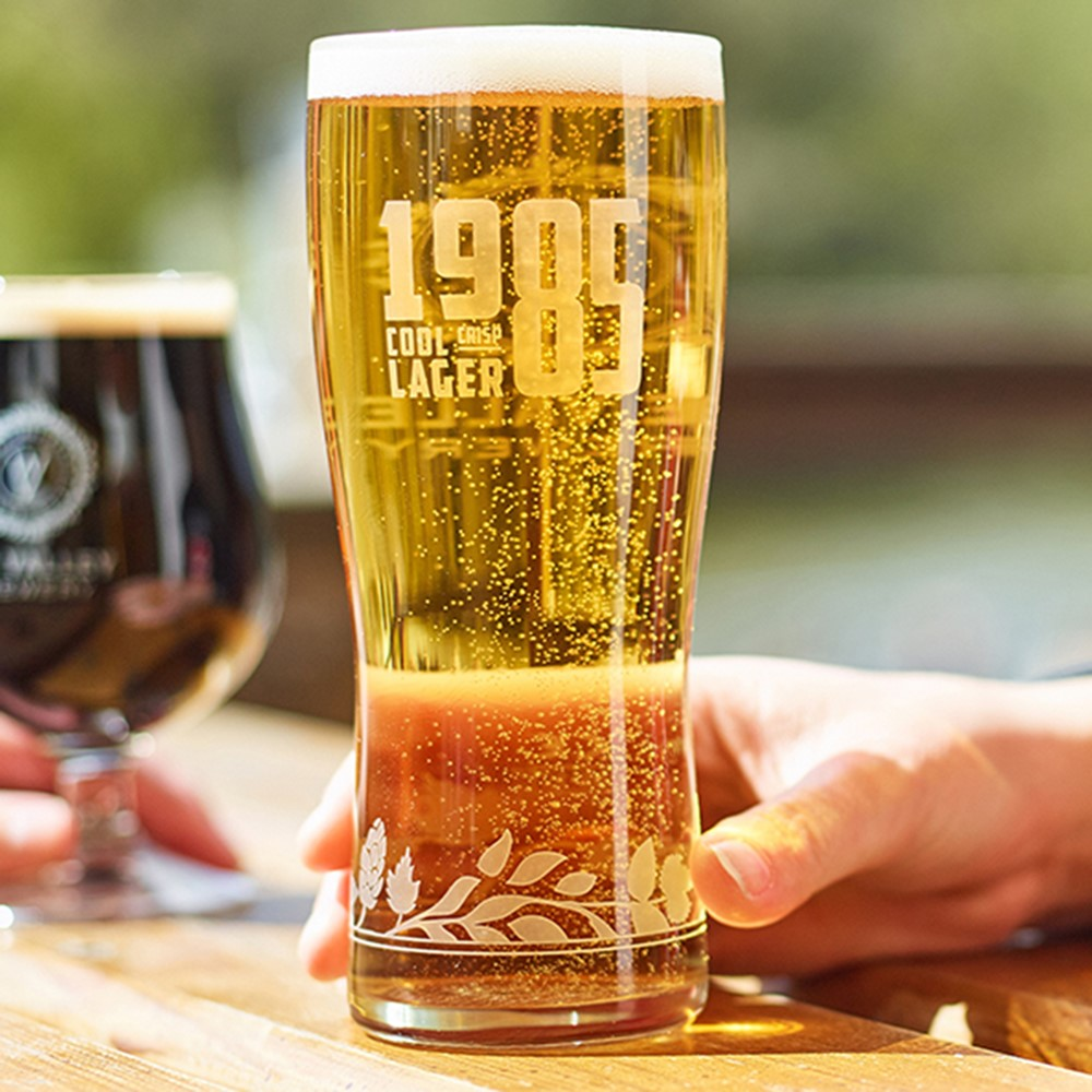 Image of 4 x 1985 LAGER Pint Glasses