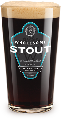 Glass of Wholesome stout