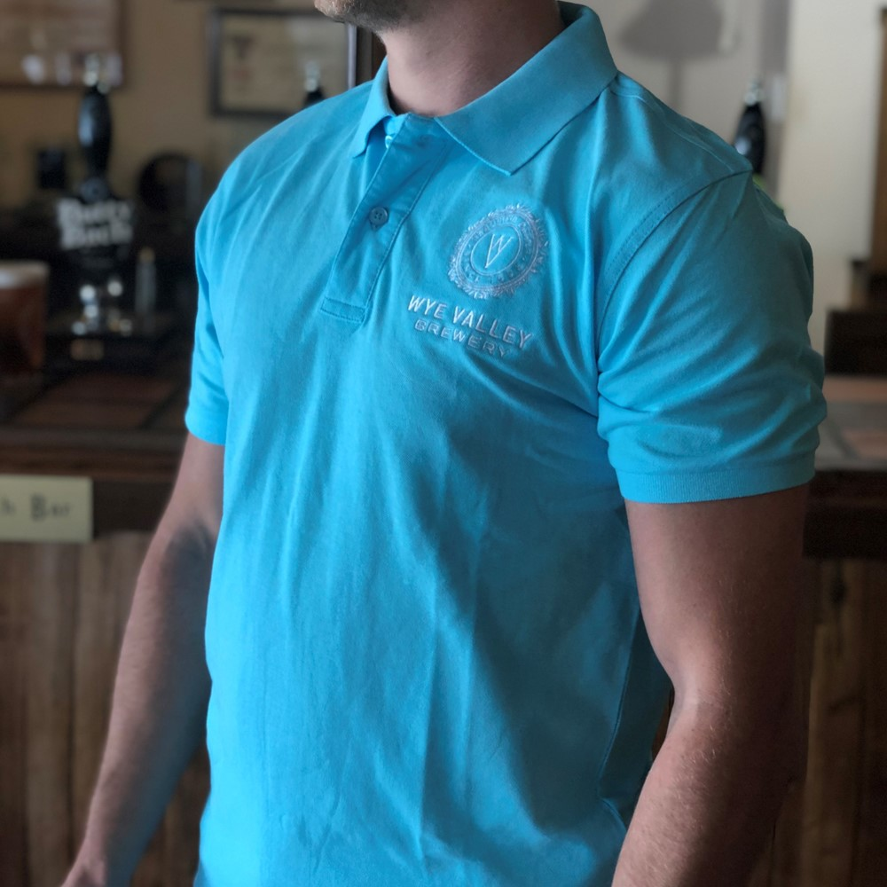 Image of Wye Valley Brewery Light Blue Polo Shirt